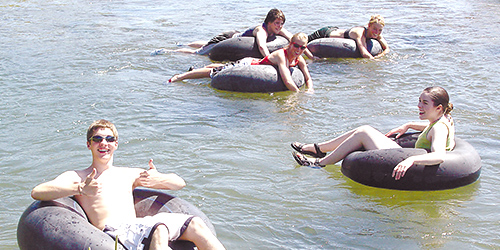 Tubing in Lewistown, Montana